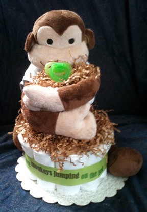 Monkey Stinky Cakes | Fun Baby Gifts