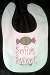 Custom Candy Stinky Cakes Bibs | Personalized Fun Baby Gifts