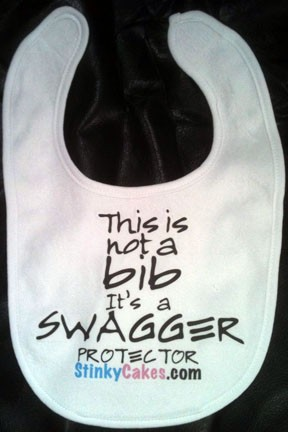 Stinky Cakes Swagger Protector | Personalized Fun Baby Gifts